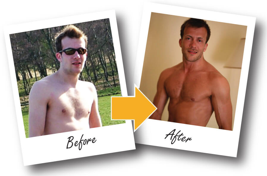 Glasgow Personal Training Andrew before and after