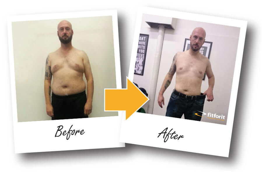 Glasgow Personal Training Steve before and after